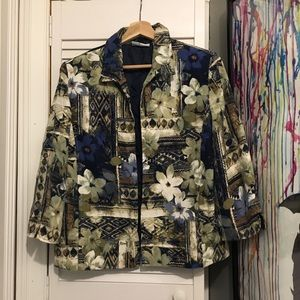 Vintage BEAUTIFUL Ugly 90s Flower PARTY Jacket 16P